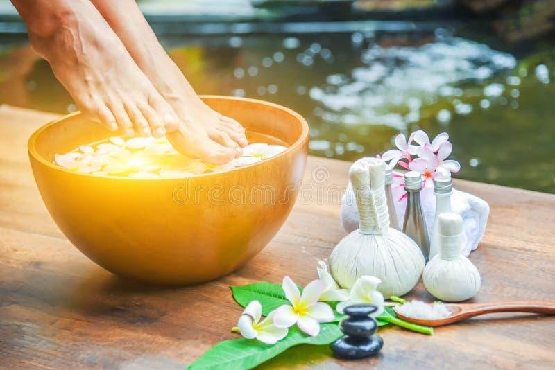 feet spa treatment. royalty free stock photo