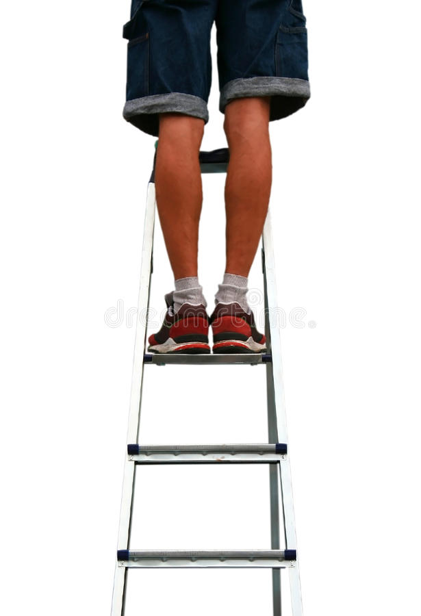 Download Feet On Steel Ladder Stock Photo - Image: 40402759