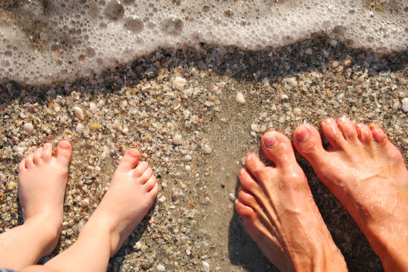 Download Feet in surf stock photo. Image of surf, feet, girl, toes - 383956