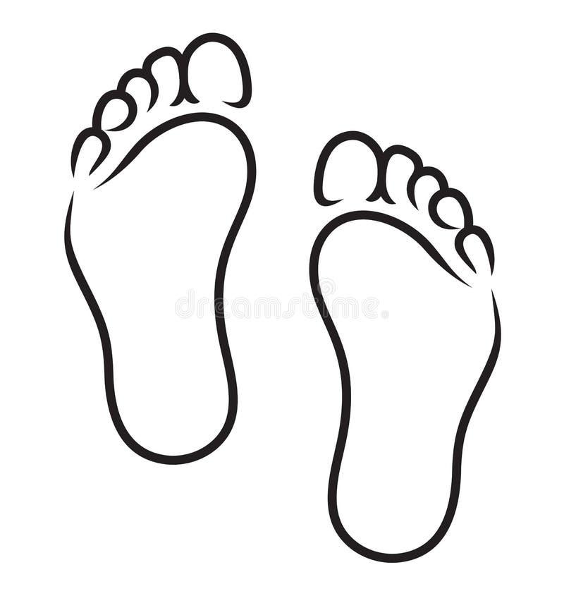 Feet symbol. Vector illustration of the Feet symbol stock illustration
