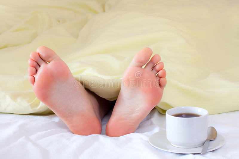 Download Feet under blanket stock photo. Image of foot, bright - 13912412