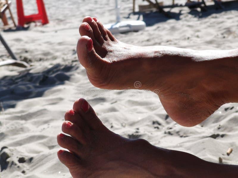 Feet voet fetish pedicure manicure schoonheid stock fotografie