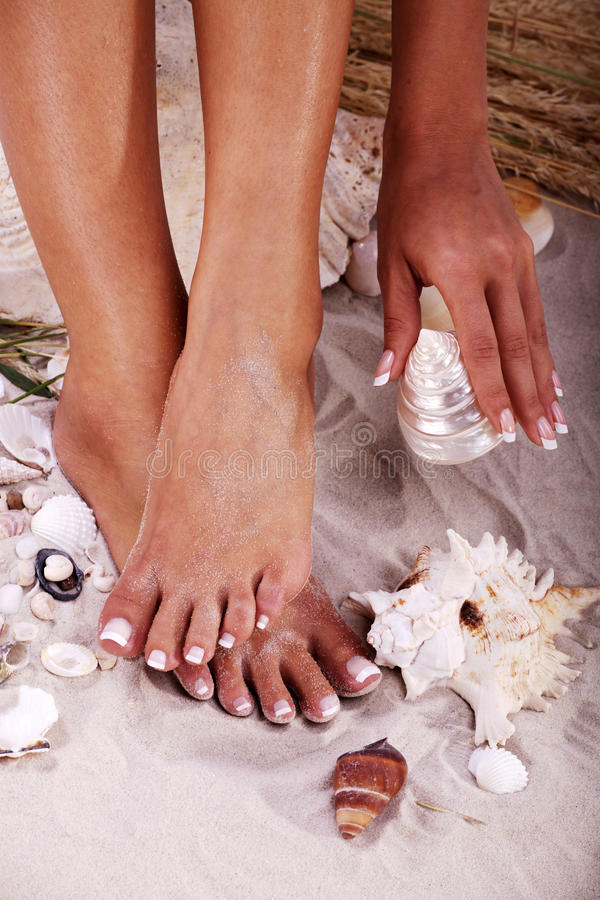 Free Feet With Sea Assecoire Stock Photos - 40520313