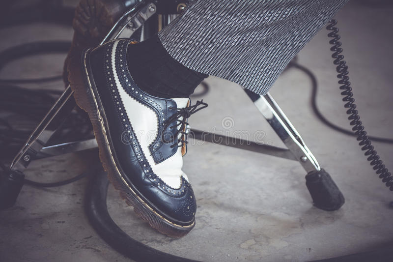 Feet zoom in royalty free stock images