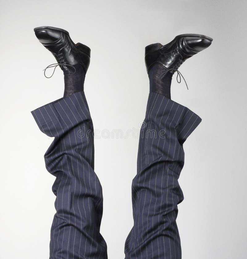 Feets acima. fotografia de stock royalty free