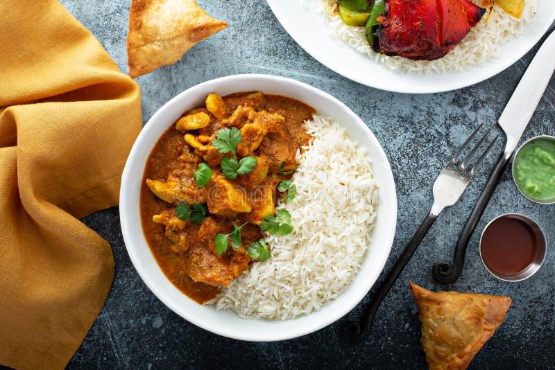 Feg curry med jasminris royaltyfri bild