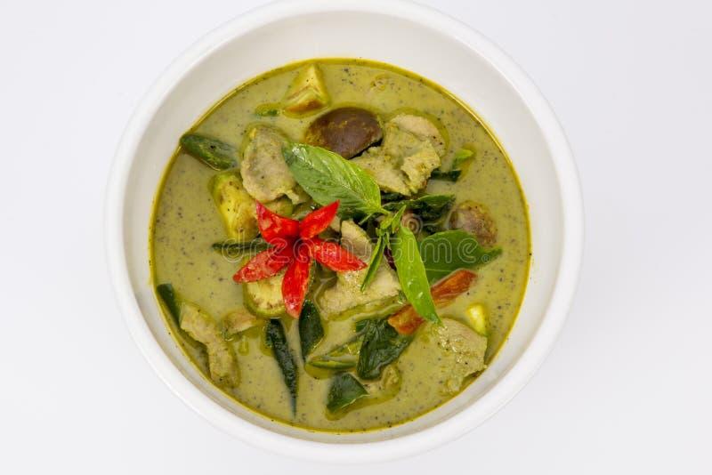 Feg grön curry, thailändsk mat royaltyfri fotografi