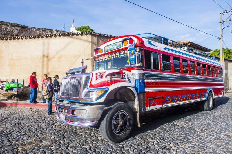 feg guatemalan för buss royaltyfri fotografi