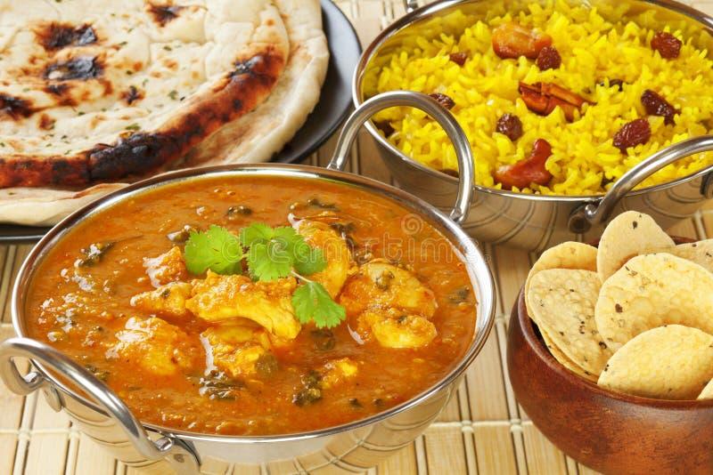 Feg indisk curry för smör arkivbilder
