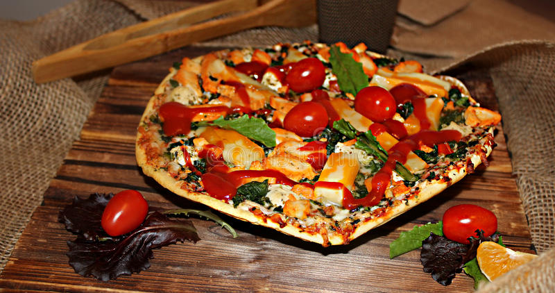 Feg pizza arkivfoton