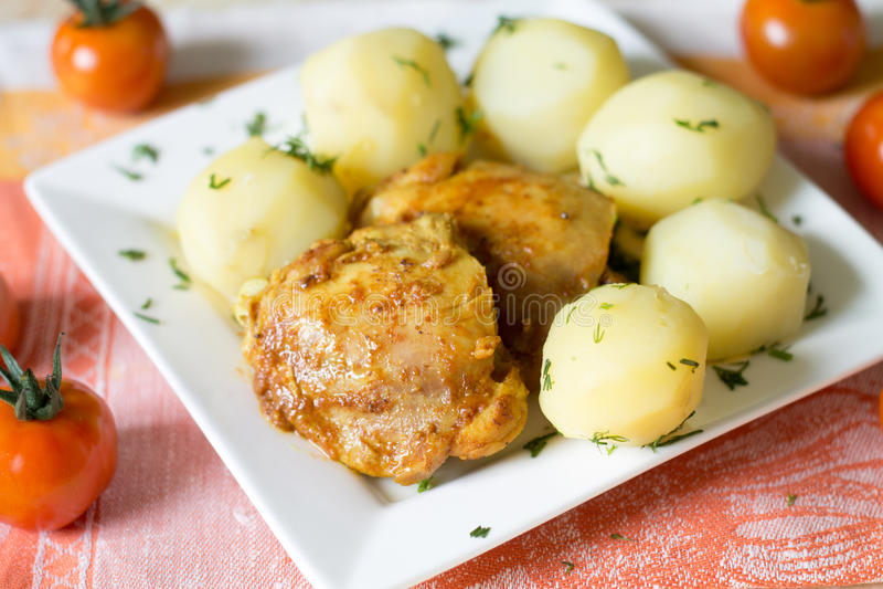 feg potatis arkivbild