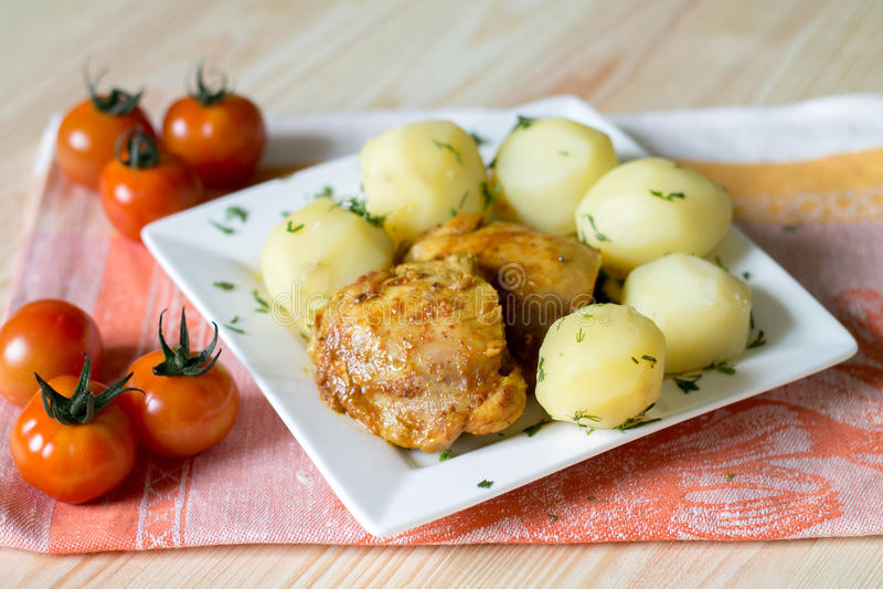 feg potatis arkivbilder