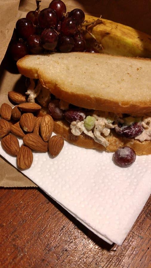 Feg smörgås för strikt vegetarian arkivfoto