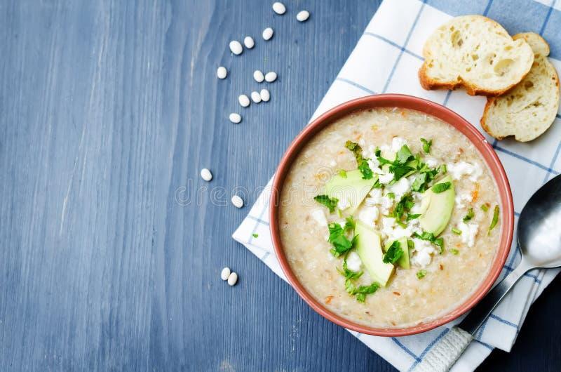 Feg soppa för vita bönor fotografering för bildbyråer