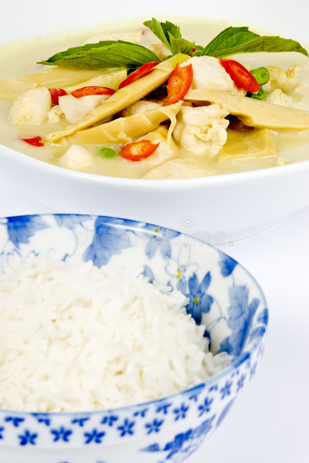 feg thai currygreen arkivfoto