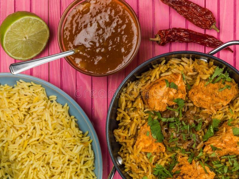 Fega Biryani med Basmati ris arkivfoton