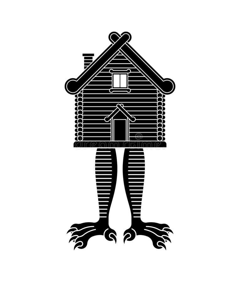 fega kojaben Ryskt traditionellt trähem Baba Yaga hus vektor illustrationer
