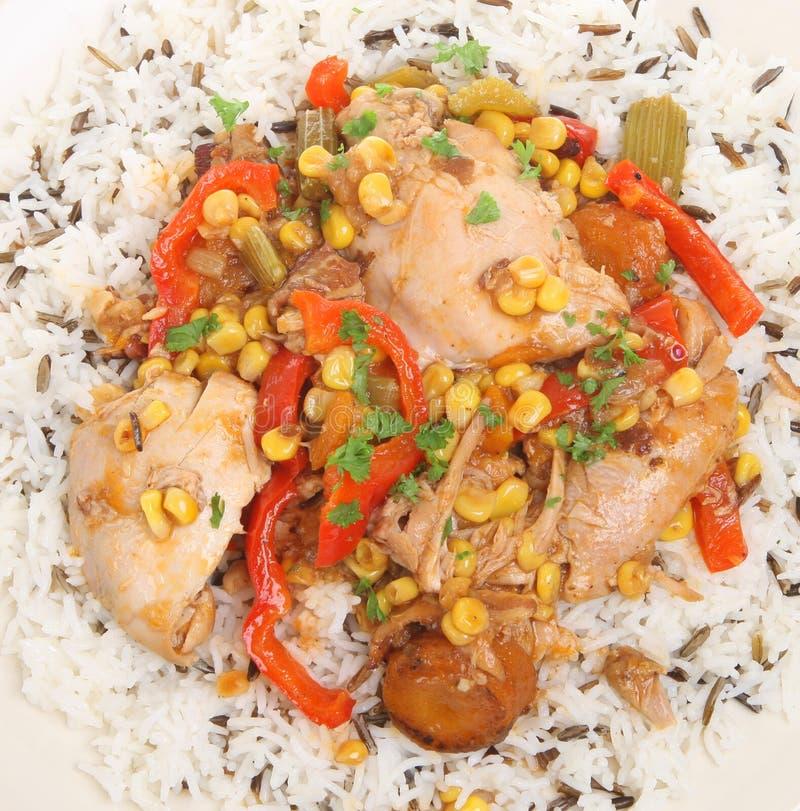 fega ricegrönsaker för casserole fotografering för bildbyråer