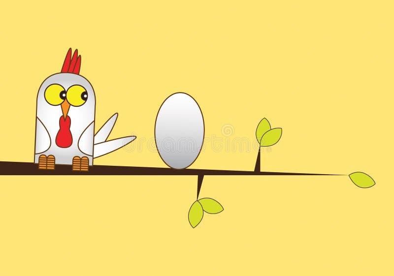 fegt ägg stock illustrationer