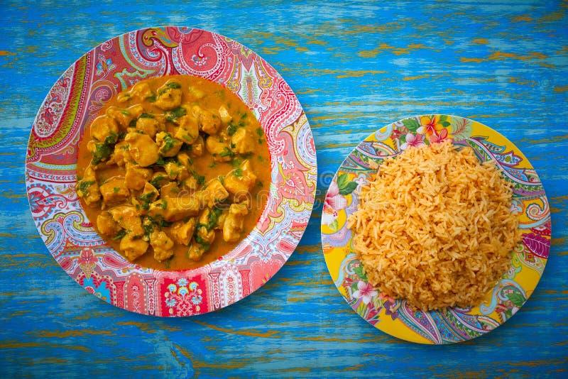 fegt recept för currytikkamasala arkivfoton