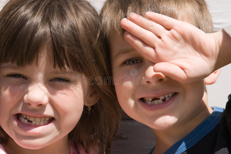 Fehlende Zähne stockfotos