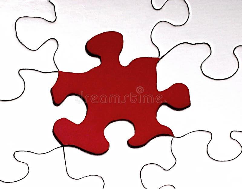 Fehlendes Puzzlespiel-Stück stockfotografie