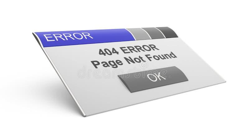 Fehler 404. Seite nicht gefunden. lizenzfreie abbildung