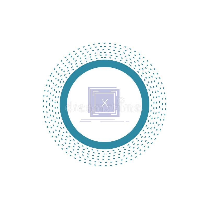 Fehler, Anwendung, Mitteilung, Problem, Server Glyph-Ikone Vektor lokalisierte Illustration vektor abbildung