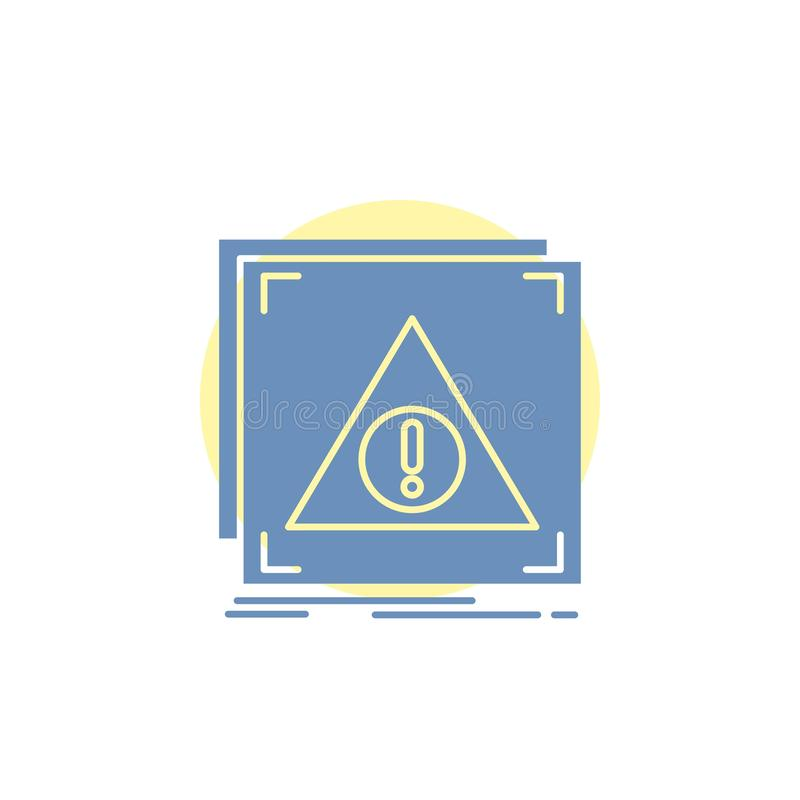 Fehler, Anwendung, verweigert, Server, wachsame Glyph-Ikone lizenzfreie abbildung