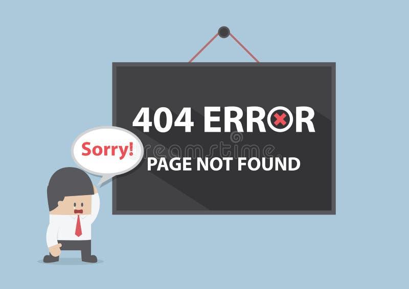 Fehler 404, paginieren nicht gefunden stock abbildung