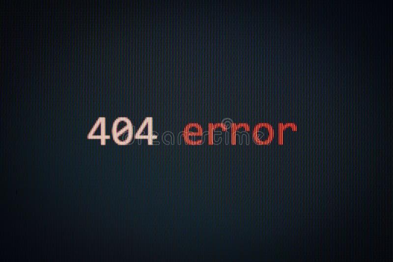 404 Fehlermeldung auf dem Bildschirm schwarzer Hintergrund Datenwarnung Computernetzwerk-Problem-Software-Konzept stockfotografie