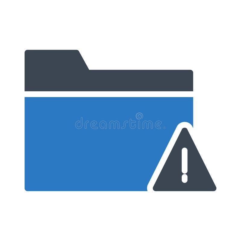 Fehlerordner Glyphfarbvektorikone lizenzfreie abbildung