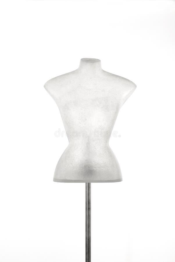 Fehlschlag des Mannequins im Fiberglas lokalisiert auf Weiß stockfoto
