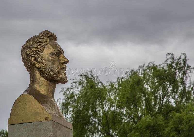 Fehlschlag von Monsieur Gustave Eiffel in Paris lizenzfreie stockfotos