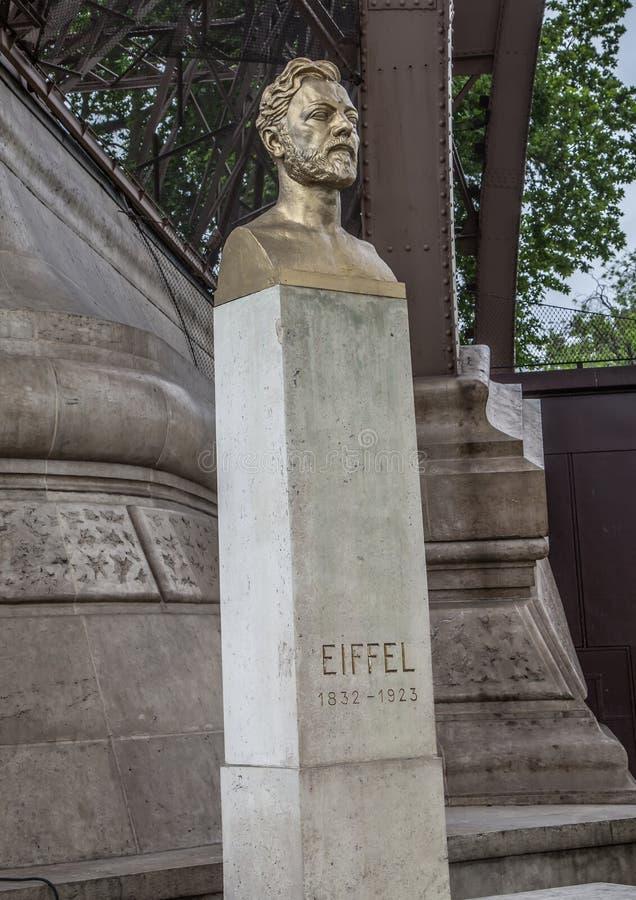 Fehlschlag von Monsieur Gustave Eiffel in Paris lizenzfreies stockbild