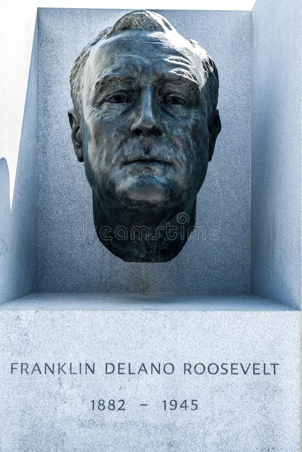 Fehlschlag von Präsidenten Roosevelt bei Franklin D Roosevelt Four Freedoms Park stockfoto