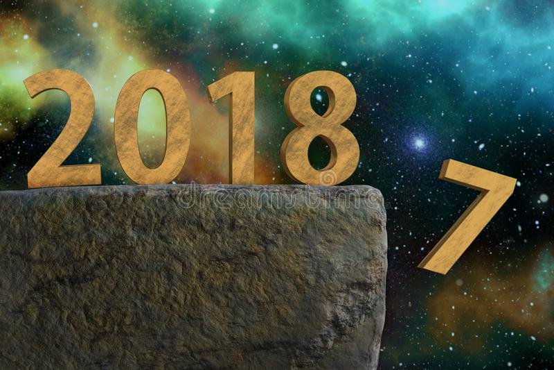 Feier des neuen Jahres stock abbildung