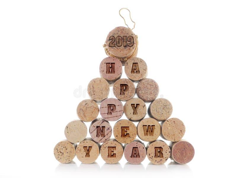 Feier des neuen Jahres 2018 lizenzfreies stockbild