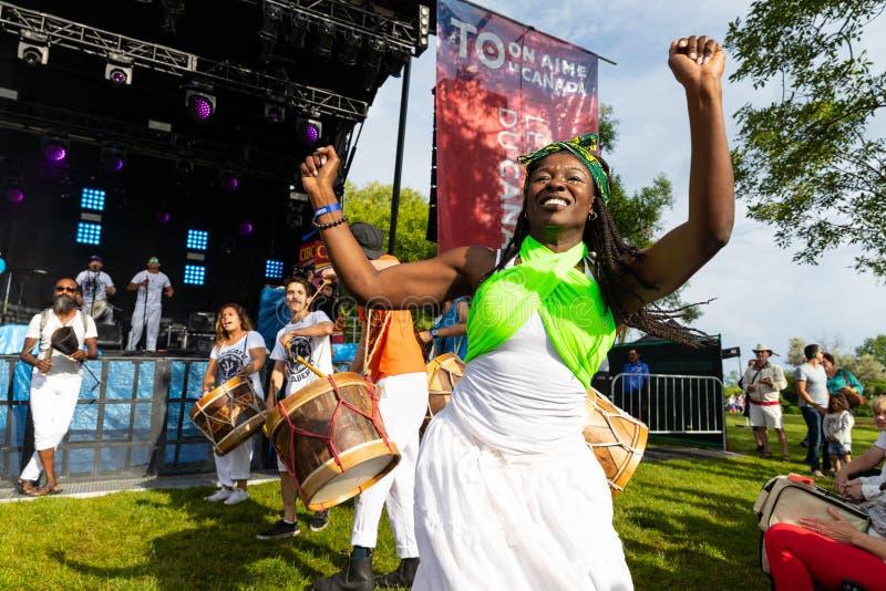 Feier feiern Kanada-Tag in Toronto-Park stockfoto