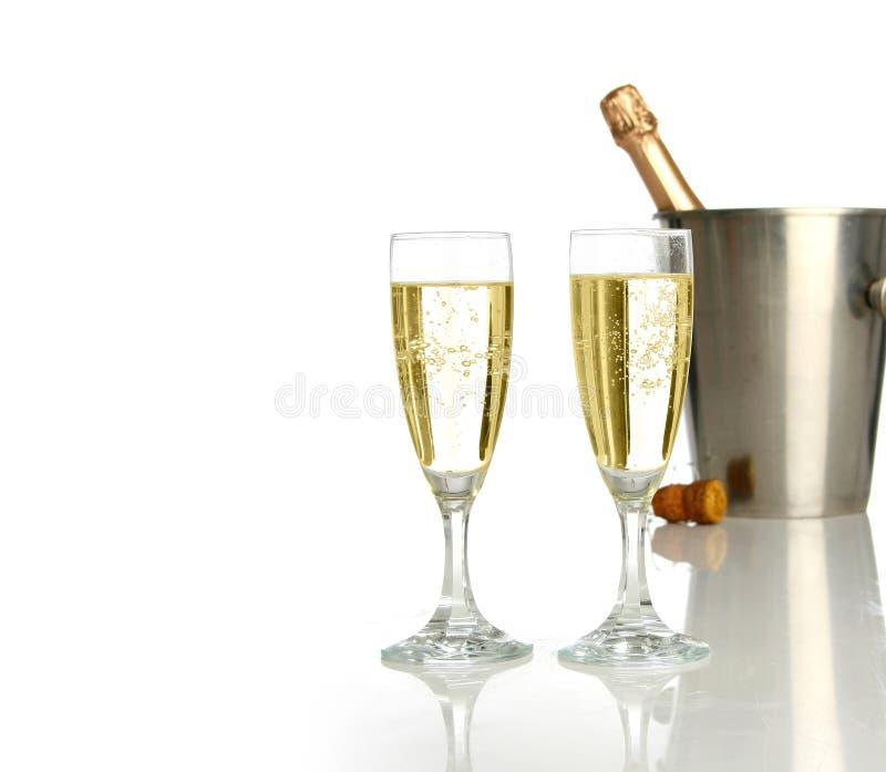 Feier mit Champagner stockfotos