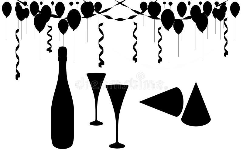 Feier-Party lizenzfreie abbildung