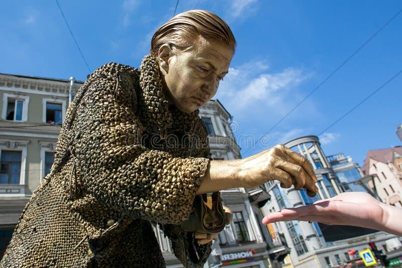 Feier von Dostoevsky-Tag in St Petersburg stockfotografie