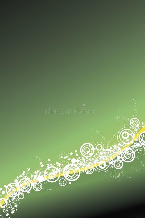 Feierhintergrund im Grün lizenzfreie abbildung
