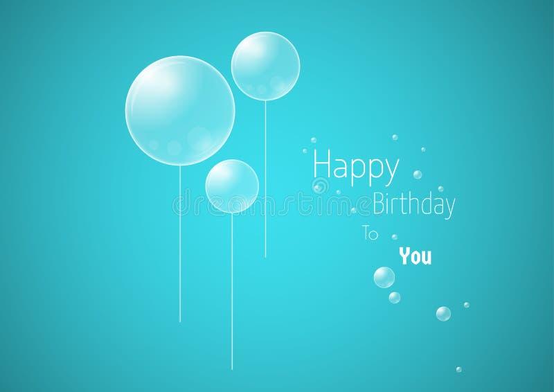 Feierkarte mit Wunsch von alles Gute zum Geburtstag lizenzfreie abbildung