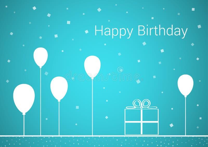 Feierkarte mit Wunsch von alles Gute zum Geburtstag stock abbildung