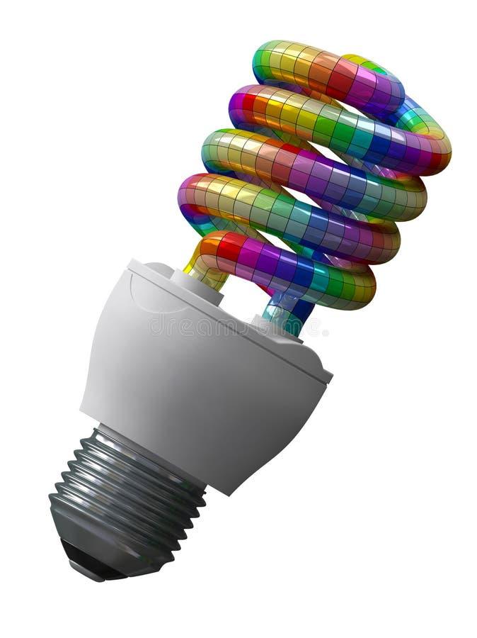 Feierliche Energieeinsparung lizenzfreie abbildung