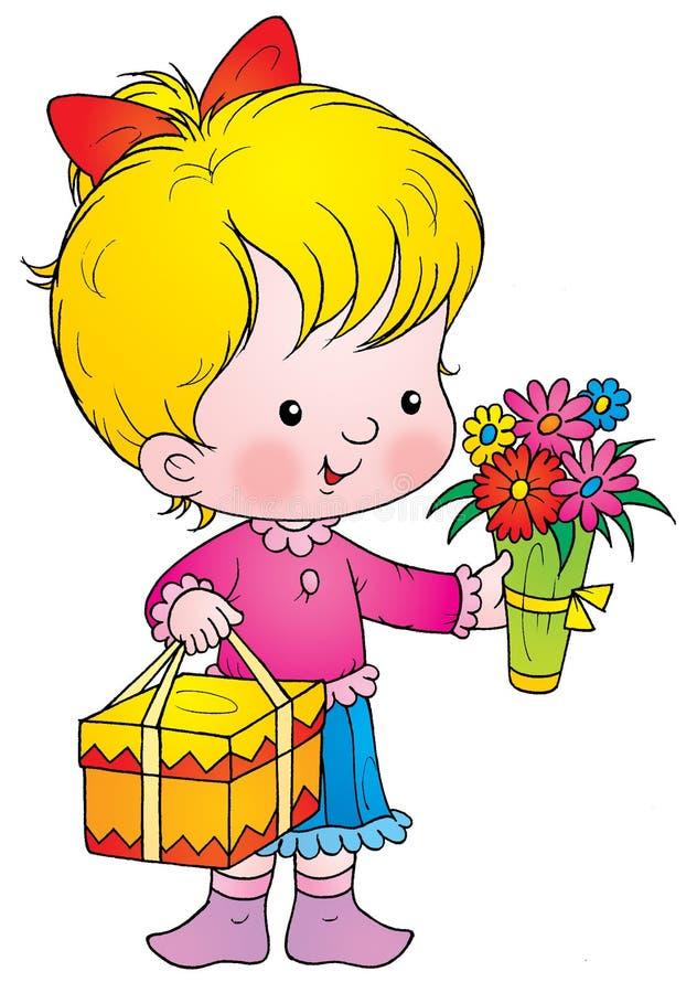 Feierlicher Blumenstrauß lizenzfreie abbildung