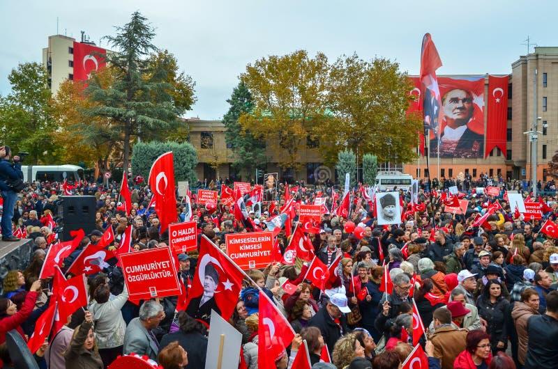 Feiern des Tages der Republik, Eskisehir in der Türkei stockbild
