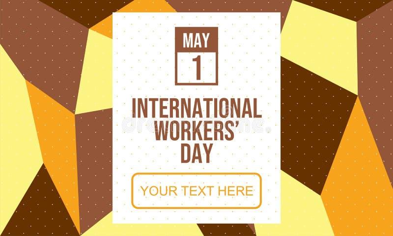 Feiern Sie den Tag der internationalen Arbeitskr?fte - Vektor vektor abbildung