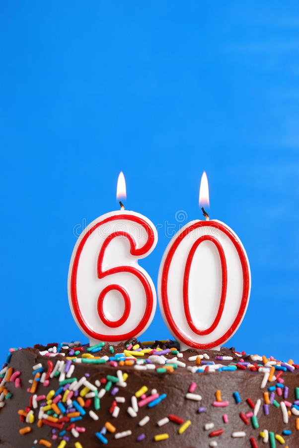 Feiern von sechzig Jahren stockfoto